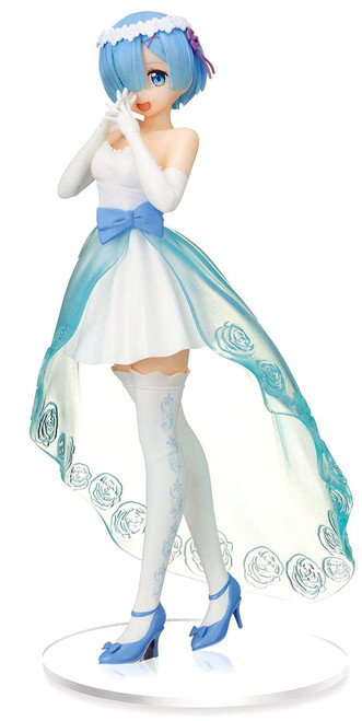 Sega Re: Zero Starting Life in a Different World Rem 8.6-Inch Collectible PVC Figure [Wedding Dress] (Pre-Order ships March)