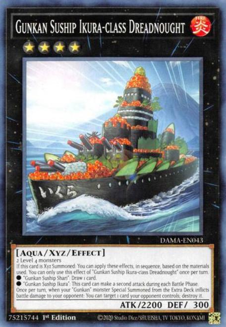 YuGiOh Dawn of Majesty Common Gunkan Suship Ikura-class Dreadnought DAMA-EN043