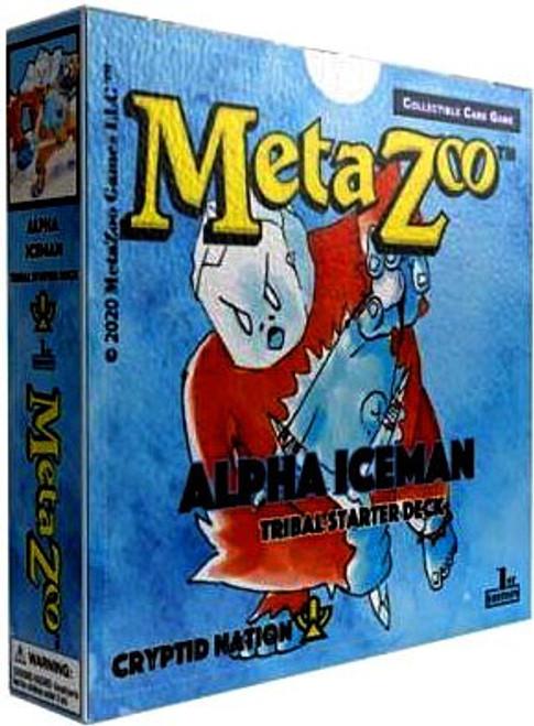 MetaZoo Trading Card Game Cryptid Nation Base Set Alpha Iceman Tribal Theme Deck [1st Edition]