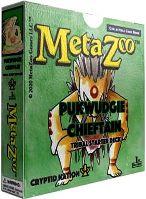 MetaZoo Trading Card Game Cryptid Nation Base Set Pukwudgie Chieftain Tribal Theme Deck [1st Edition]