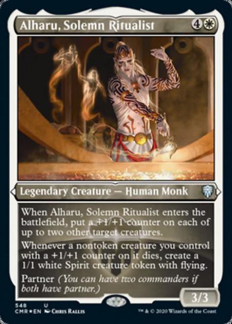 MtG Commander Legends Uncommon Alharu, Solemn Ritualist #548 [Etched Foil]