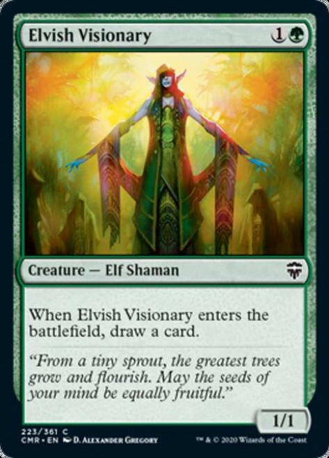 MtG Commander Legends Common Foil Elvish Visionary #223