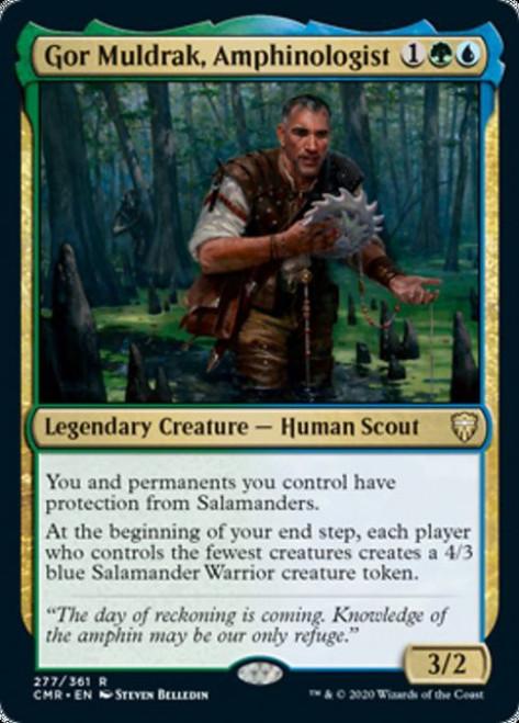 MtG Commander Legends Rare Foil Gor Muldrak, Amphinologist #277