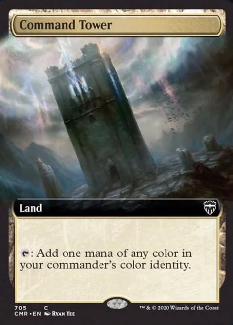 MtG Commander Legends Common Command Tower #705 [Extended Art, Foil]
