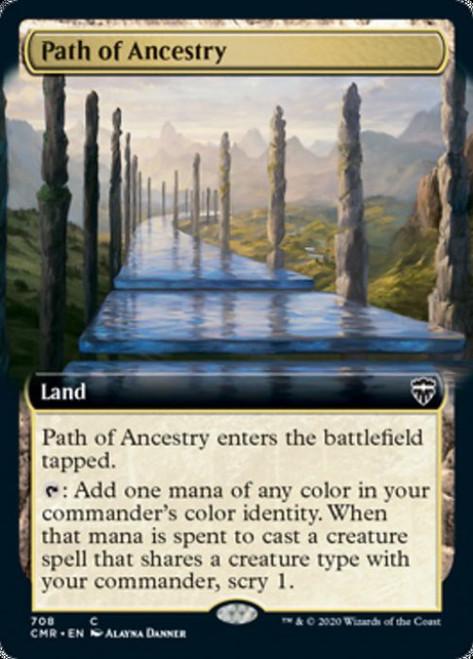 MtG Commander Legends Common Path of Ancestry #708 [Extended Art, Foil]