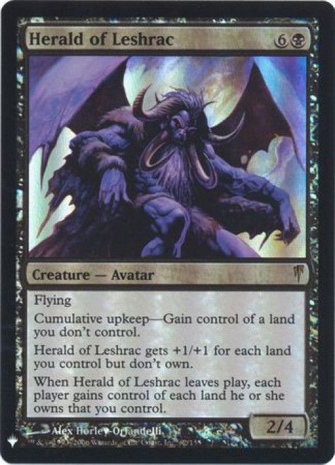 MtG Mystery Booster / The List Rare Herald of Leshrac #62