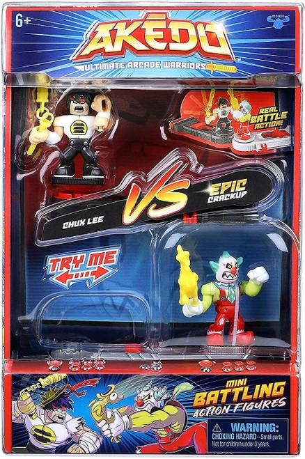 Akedo Ultimate Arcade Warriors Series 1 Chux Lee VS. Epic Crackup Mini Battling Action Figure VERSUS Pack