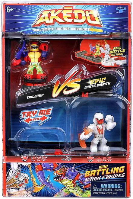 Akedo Ultimate Arcade Warriors Series 1 Tailwhip VS. Epic White Wraith Mini Battling Action Figure VERSUS Pack