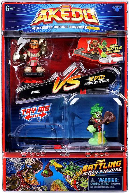 Akedo Ultimate Arcade Warriors Series 1 Axel VS. Epic Miss Slither Mini Battling Action Figure VERSUS Pack