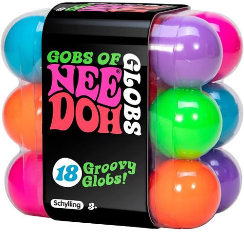 NeeDoh The Groovy Glob Gobs of Globs 4.5-Inch Teenie Stress Ball 18-Pack