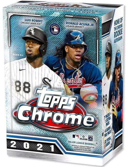 MLB Topps 2021 Chrome Baseball Trading Card BLASTER Box [8 Packs]