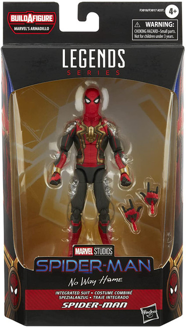 Spider-Man 3: No Way Home Marvel Legends Armadillo Series Integrated Suit Spider-Man Action Figure (Pre-Order ships January)