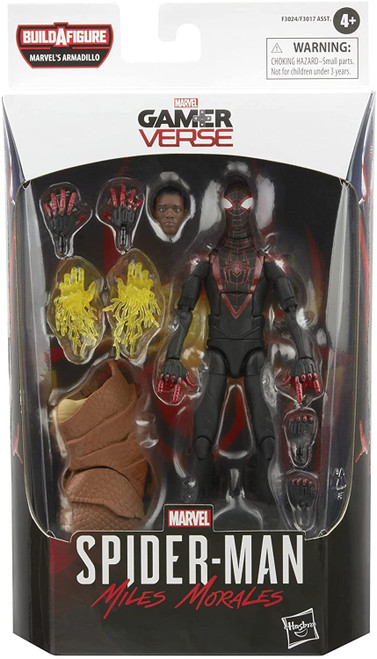 Spider-Man 3: No Way Home Marvel Legends Armadillo Series Miles Morales Action Figure (Pre-Order ships January)