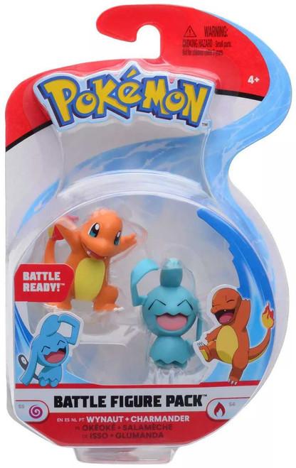 Pokemon Battle Figure Wynaut & Charmander 3-Inch Mini Figure 2-Pack