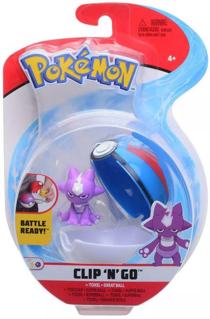 Pokemon Clip 'N' Go Toxel & Great Ball Figure Set