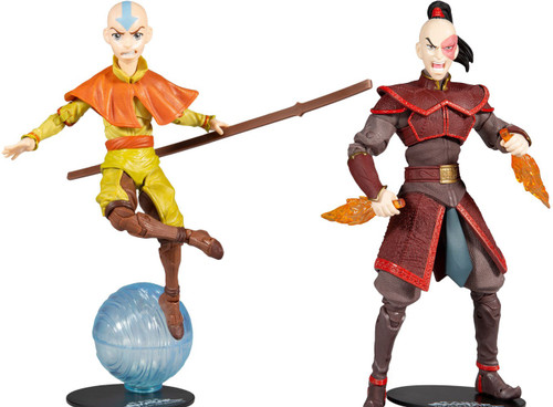 McFarlane Toys Avatar the Last Airbender Aang & Prince Zuko Set of Both Action Figures (Pre-Order ships October)