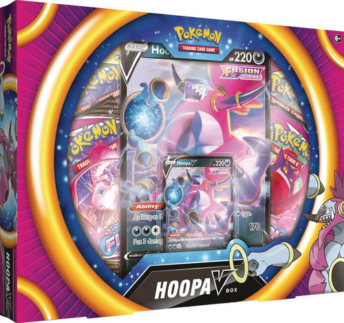 Pokemon Trading Card Game Sword & Shield Fusion Strike Hoopa V Box [4 Booster Packs, Foil Promo, Oversize Card & More] (Pre-Order ships November)
