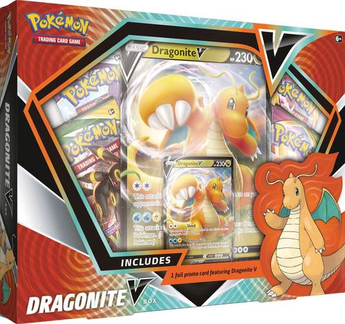 Pokemon Trading Card Game Sword & Shield Fusion Strike Dragonite V Box [4 Booster Packs, Foil Promo, Oversize Card & More] (Pre-Order ships November)
