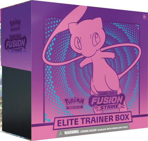 Pokemon Trading Card Game Sword & Shield Fusion Strike Mew Elite Trainer Box [8 Booster Packs, 65 Card Sleeves, 45 Energy Cards & More] (Pre-Order ships November)