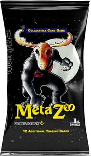 MetaZoo Trading Card Game Cryptid Nation Nightfall Booster Pack [1st Edition, 12 Cards] (Pre-Order ships October)