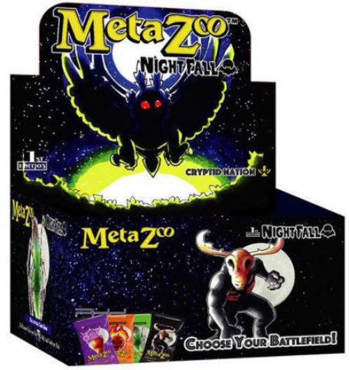 MetaZoo Trading Card Game Cryptid Nation Nightfall Booster Box [1st Edition, 36 Packs] (Pre-Order ships October)