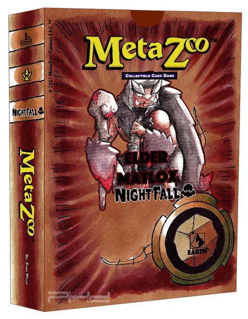 MetaZoo Trading Card Game Cryptid Nation Nightfall Elder Matlox Theme Deck [1st Edition, Earth] (Pre-Order ships October)