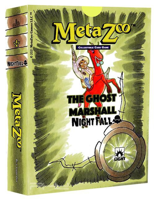 MetaZoo Trading Card Game Cryptid Nation Nightfall The Ghost Marshall Theme Deck [1st Edition, Light] (Pre-Order ships October)