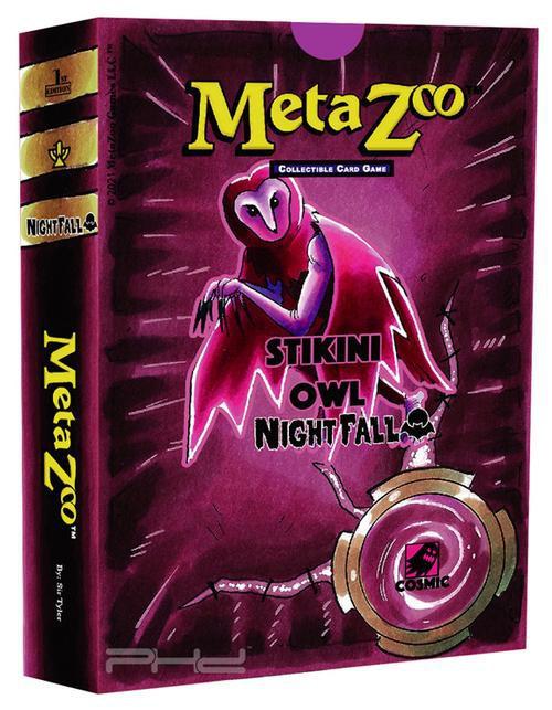 MetaZoo Trading Card Game Cryptid Nation Nightfall Stikini Owl Theme Deck [1st Edition, Spirit] (Pre-Order ships October)