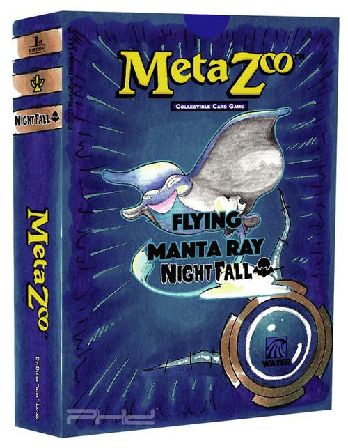 MetaZoo Trading Card Game Cryptid Nation Nightfall Flying Manta Ray Theme Deck [1st Edition, Water] (Pre-Order ships October)