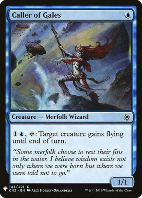 MtG Mystery Booster / The List Common Caller of Gales #103
