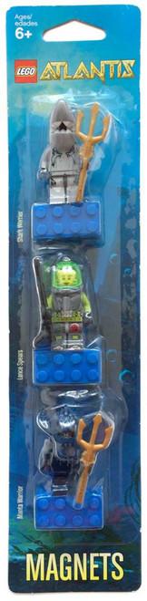 Lego Atlantis Manta Warrior, Lance Spears & Shark Warrior Magnet Set #852777