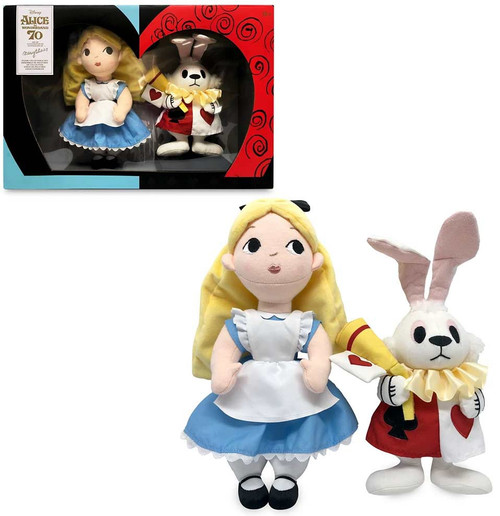 Disney Alice in Wonderland 70th Anniversary Alice & White Rabbit Exclusive 12-Inch Plush 2-Pack