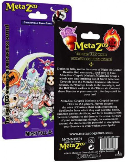 MetaZoo Trading Card Game Cryptid Nation Nightfall BLISTER Pack [1st Edition] (Pre-Order ships October)