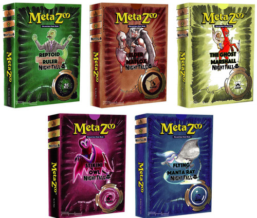 MetaZoo Trading Card Game Cryptid Nation Nightfall Set of 5 Theme Decks [1st Edition] (Pre-Order ships October)
