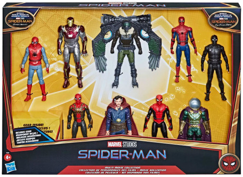 Marvel Spider-Man Homecoming Multi Movie Collection Action Figure 9-Pack [Spider-Man, Vuture, Doctor Strange, Iron man & Mysterio]