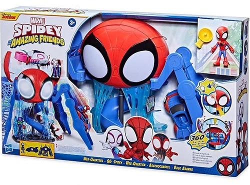 Marvel Spidey & His Amazing Friends Web-Quarters Playset (Pre-Order ships October)