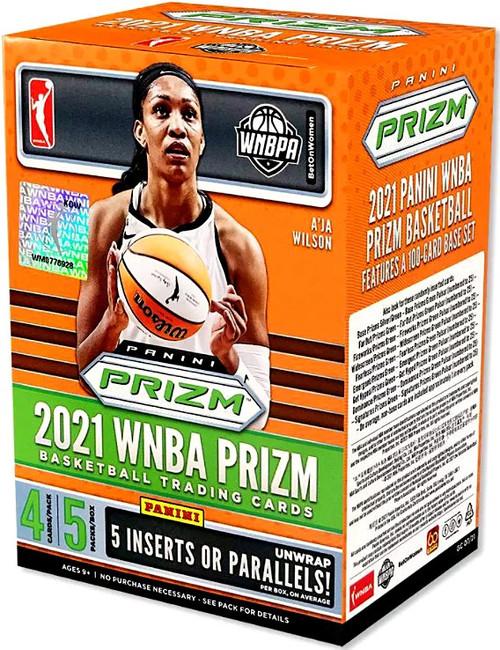 WNBA Panini 2021 Prizm Basketball Trading Card BLASTER Box [5 Packs, 5 Inserts OR Parallels]
