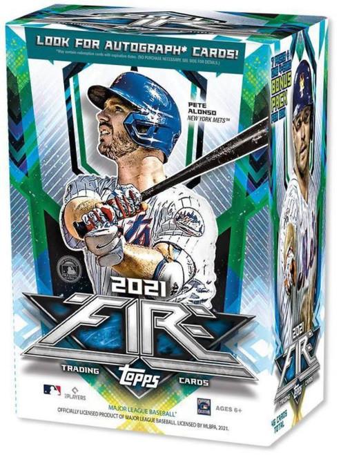 MLB Topps 2021 Fire Baseball Exclusive Trading Card BLASTER Box [7 Packs + Bonus Pack]