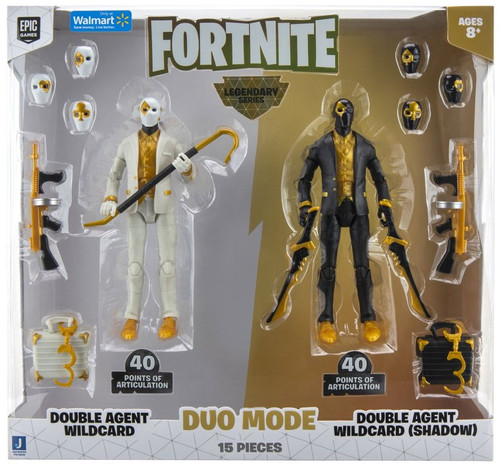 Fortnite Double Agent Wildcard & Double Agent Wildcard (Shadow) Exclusive Action Figure 2-Pack