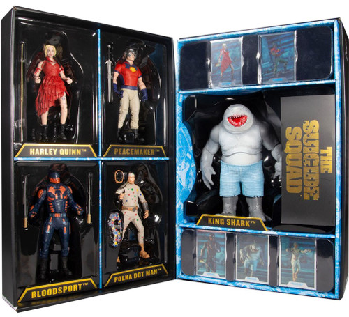 McFarlane Toys DC Multiverse The Suicide Squad Harley Quinn, Peacemaker, Bloodsport, Polka-Dot Man & King Shark Exclusive Action Figure 5-Pack Boxed Set (Pre-Order ships January)