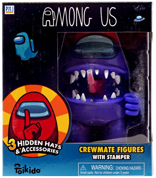 Among Us Purple Action Figure [with Red Hat]
