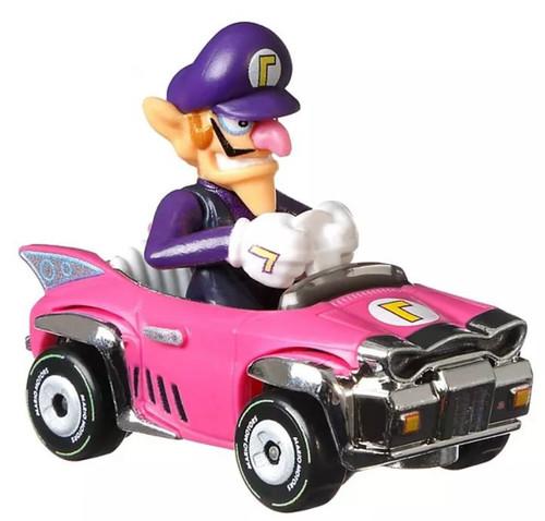 Hot Wheels Mario Kart Badwagon Waluigi Diecast Car [Loose]