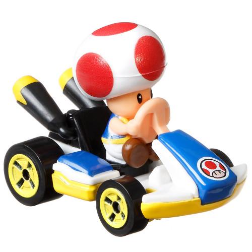 Hot Wheels Mario Kart Standard Kart Toad Diecast Car [Loose]