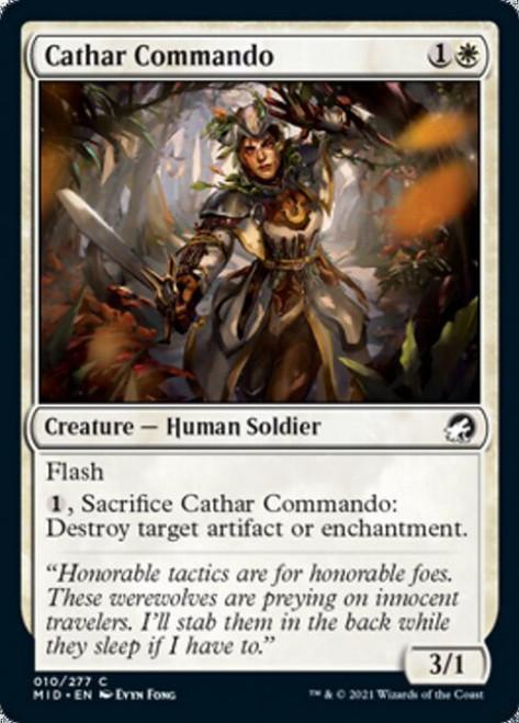 MtG Innistrad: Midnight Hunt Common Cathar Commando #10