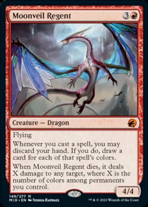 MtG Innistrad: Midnight Hunt Mythic Rare Moonveil Regent #149