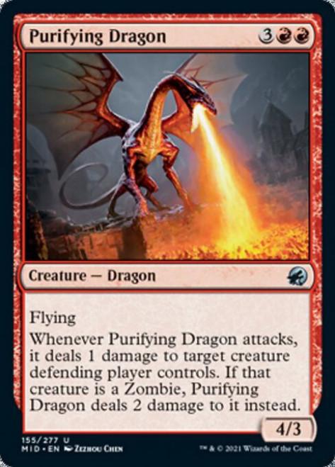 MtG Innistrad: Midnight Hunt Uncommon Purifying Dragon #155