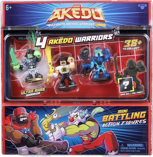 Akedo Ultimate Arcade Warriors Series 1 Glitchblade, Chux Lee, Hyperlock & MYSTERY Character Mini Battling Action Figure FIGHT 4-Pack