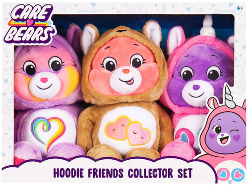Care Bears Hoodie Friends Collector Set 14-Inch Plush 3-Pack [Love-a-Lot Bear, Share Bear & Togetherness Bear]