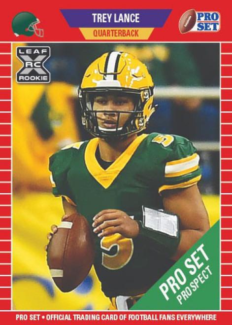 NFL San Francisco 49ers 2021 Pro Set Football Trey Lance Short Print Trading Card PS10 [XRC]