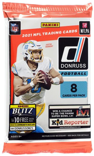 NFL Panini 2021 Donruss Football Trading Card RETAIL Pack [8 Cards]